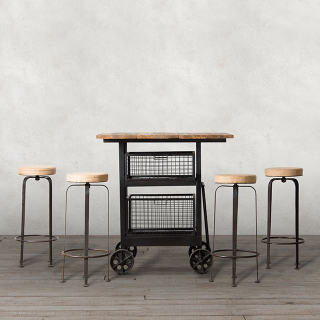 Enjoy Friday nights at home with our Baltimore Bar Table & Stools. #bar #drink #unwind #relax