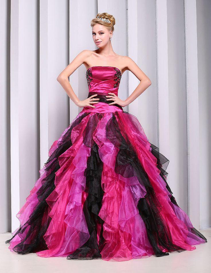 35 best Quinceria images on Pinterest | Ballroom dress, Red ball ...