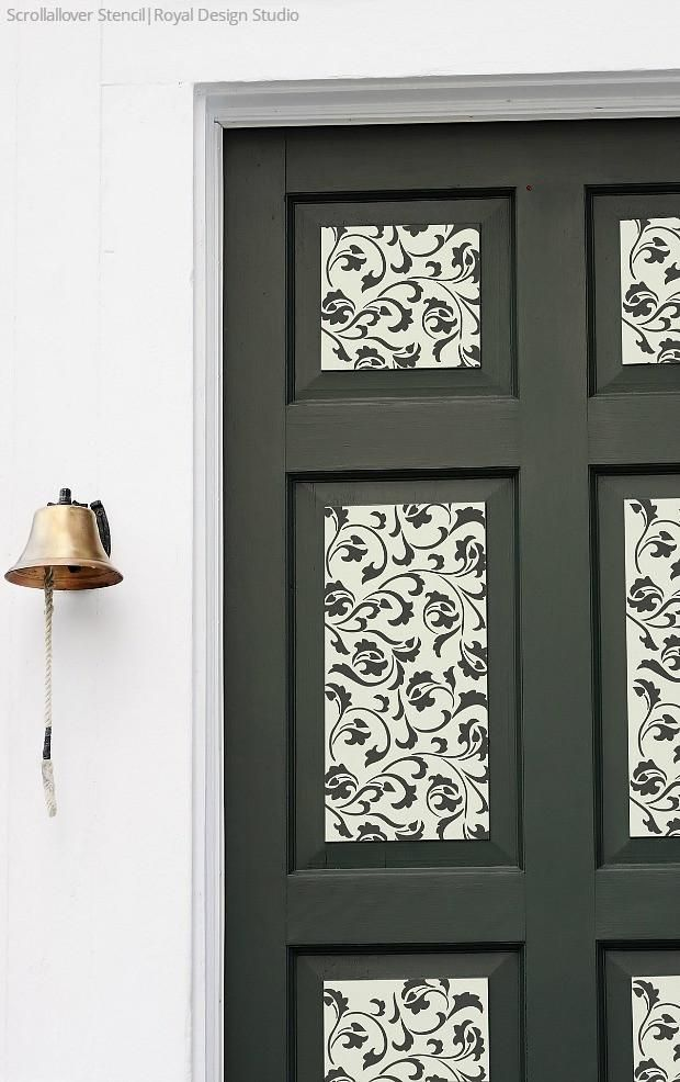 Exceptional Open Up To Painting Your Door With Stencil Designs From Royal Design Studio    7 DIY Photo