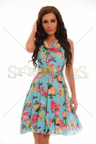 LaDonna Cheerful Lady Blue Dress
