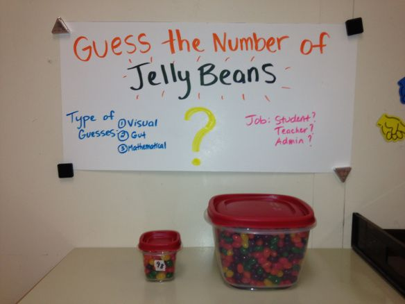 Guess the Jellybeans (could be Guess the Gumballs) -- great absolute value lesson that includes graphing.