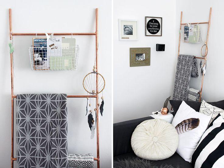 Eine Selbstgebaute Dekoleiter Aus Kufperrohren Als Blickfang Fr Dein Wohnzimmer Diy