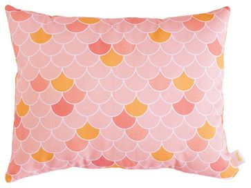 Coral Fish-Scale Pillow, 12x16 - transitional - Decorative Pillows - Zach Mitchell Interiors
