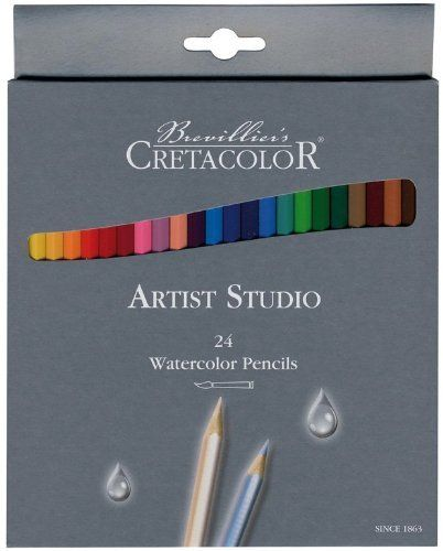 Cretacolor Artist Studio Line  Watercolor Pencils creates vivid color washes with bright colors and rich pigmentation. It is Non-toxic. Set of 24 pre-sharpened pencils are packaged in cardboard boxes.