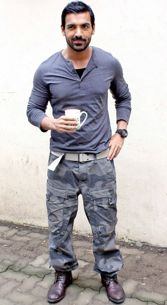John Abraham on a promotion spree for Madras Cafe. #Bollywood #Fashion #Style