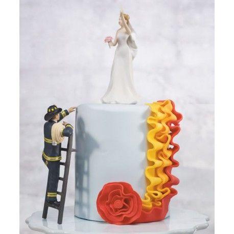 Le figurine de mariage pompier