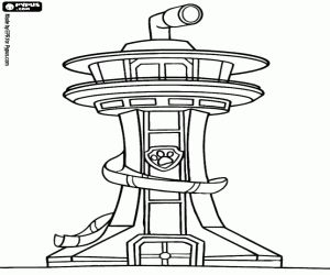 Command Center Of Paw Patrol Coloring Page Preschool Color Pages