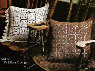 Tina's handicraft : 4 designs & patterns for pillow crochet & square
