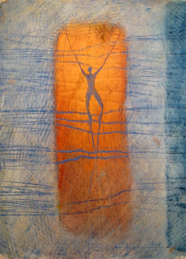 Åse Margrethe Hansen/Beyond, 2008. Oil pastel on paper