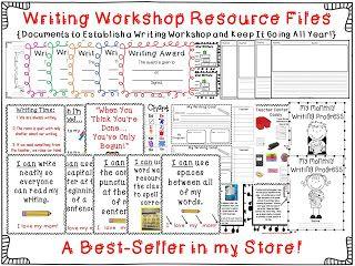 Lucy Calkins - Based Writing Workshop Resource Files $ Mrs. Wheeler's First Grade Tidbits: Writing Workshop Folders