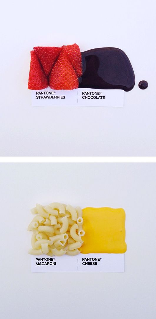 Eating Colours – Pantone Food Pairings by David Schwen | The Inspiration Grid