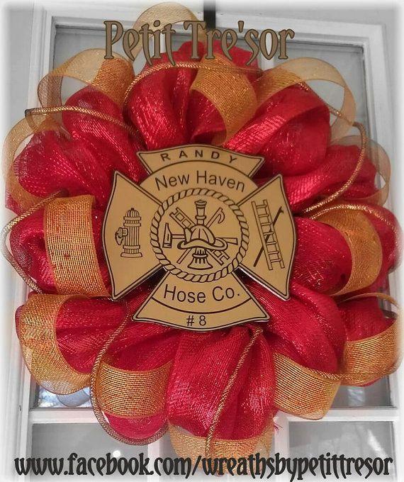 Fireman+Wreath+by+Wreathsbypetittresor+on+Etsy,+$72.00