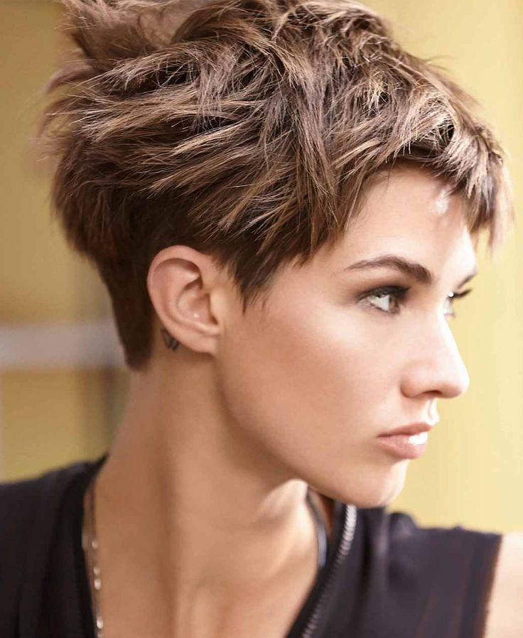 Want to look like a rock star this summer? Shake up a pixie haircut with some added texture! To create this style, blow-dry your hair with a flat brush and use a hairdryer to flatten the hair. Then, perfect the finish by using a straighter. Finally, warm a small amount of EIMI Texture Touch in your hands and apply all over to create a crushed matte texture.