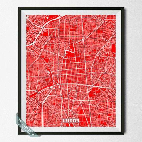 Best Asia Street Map Prints Images On Pinterest City Maps - Japan map poster