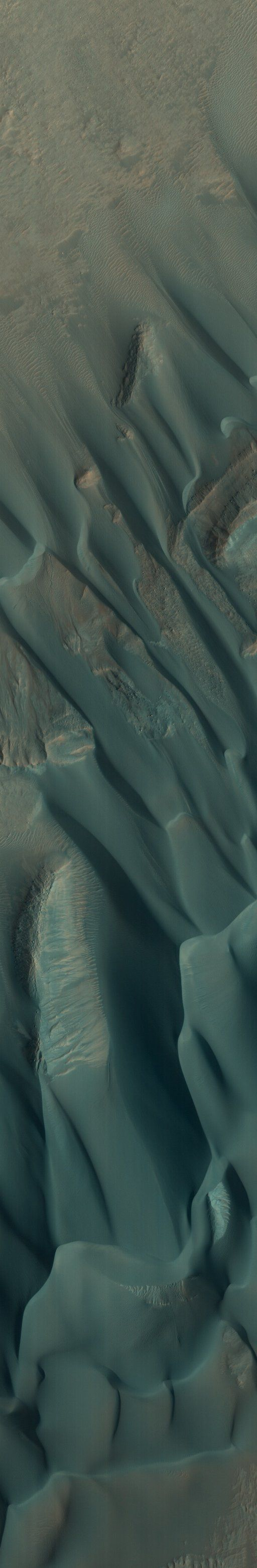 MARS Dunes in the Western Nereidum Montes. Credit: NASA/JPL/University of Arizona