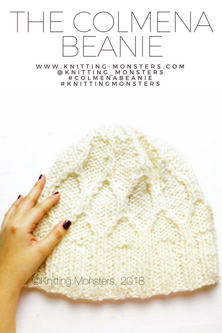 The Colmena Beanie FREE knitting pattern!!