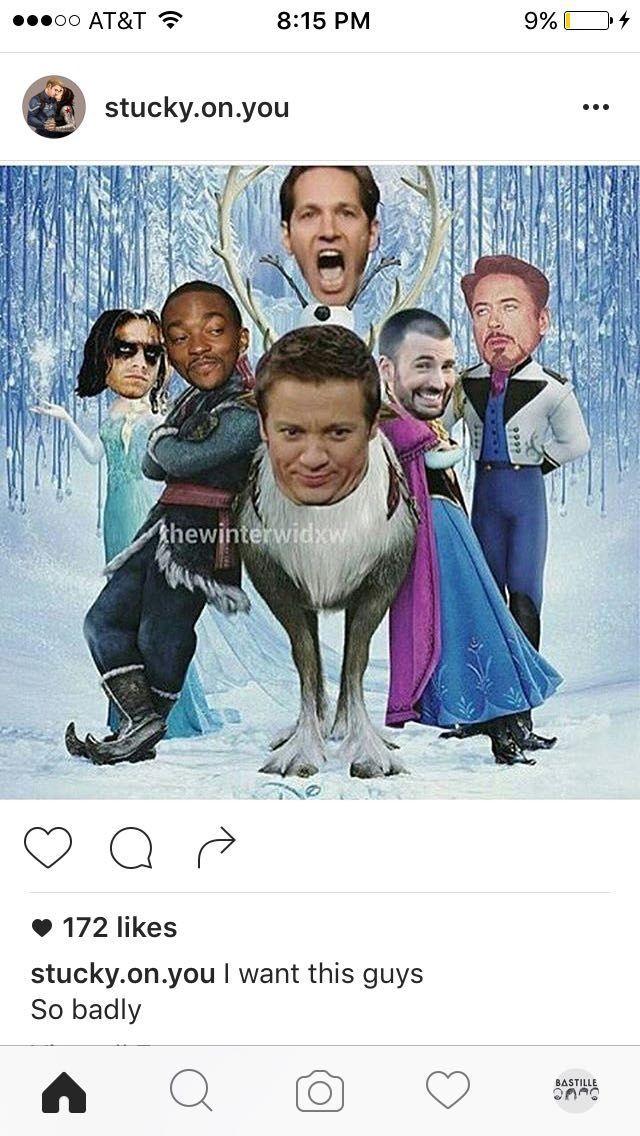 Avengers Photos and Puns 3 - Frozen. #wattpad #fanfiction