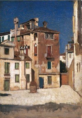 VINCENZO CABIANCA, Venezia, 1863 circa, olio su tavola, cm 20,1x19,5, Collezione privata