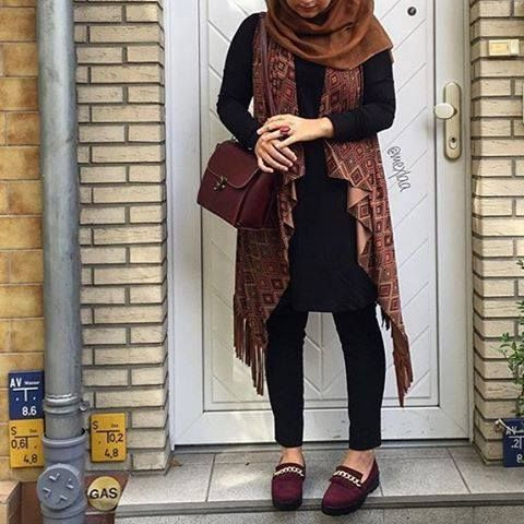 bohemin vest hijab look, New trends just for hijab http://www.justtrendygirls.com/new-trends-just-for-hijab/
