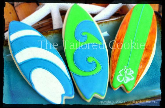 Surfboard Cookies Favors by The Tailored by TheTailoredCookie, $42.00