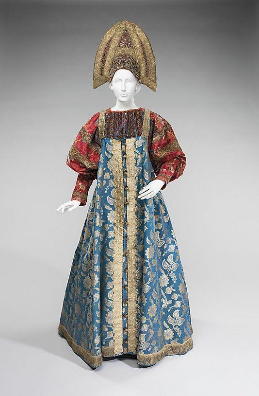 Ensemble Date: 19th century Culture: Russian Medium: silk, metal, cotton