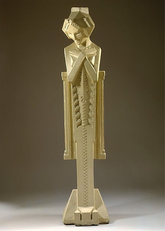 Sprite / Frank Lloyd Wright; Alfonso Ianelli / c. 1914 / painted cement [ TheGardenFountainStore.com ]
