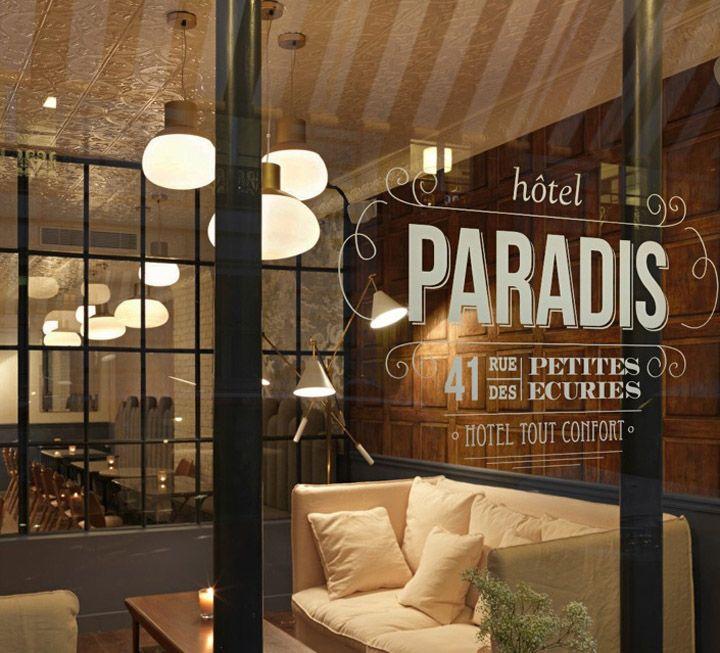 Hotel Paradis lobby by Dorothée Meilichzon, Paris hotels and restaurants