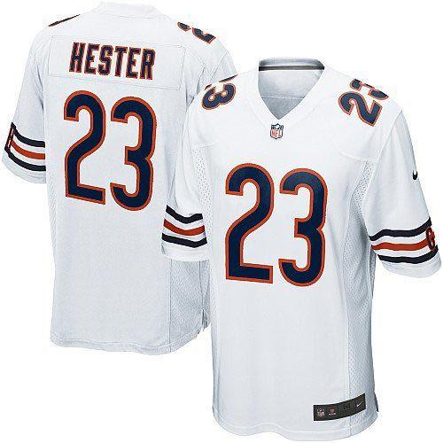 $79.99 Youth Nike Chicago Bears #23 Devin Hester Elite White Jersey