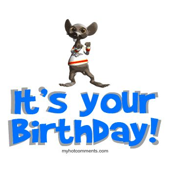 Animated Happy Birthday, Funny Animals,  Happy Birthday, Animated Gifs, Animated Gif, Keefers photo b-daydancingrat.gif