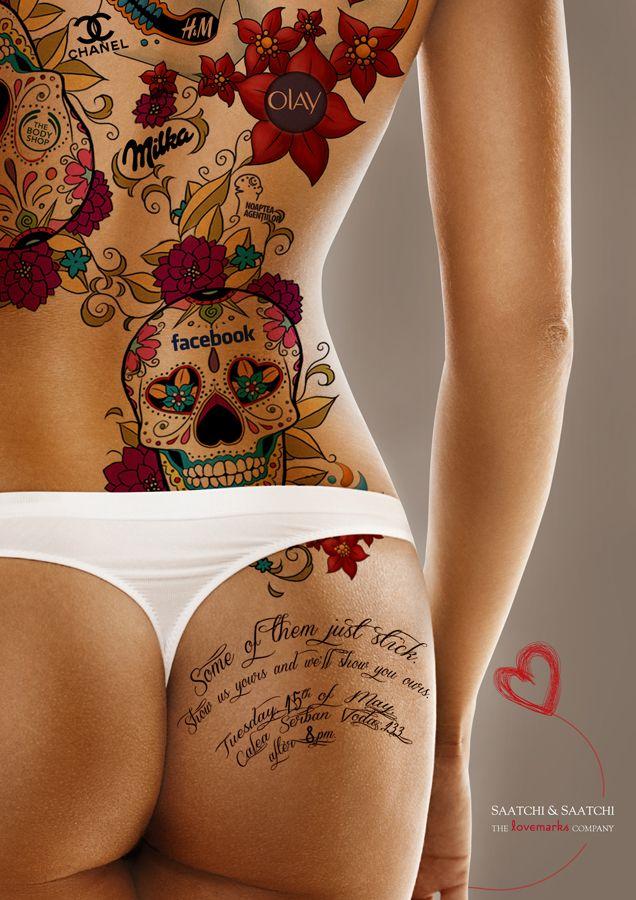Saatchi & Saatchi Romania: The Lovemarks Tattoo, Female