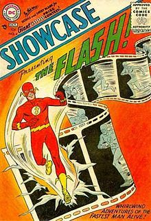 Comic book, presenting Flash