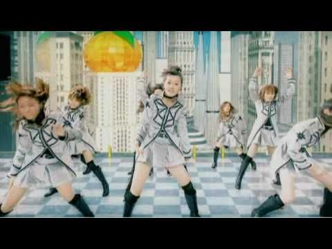 """Morning Musume video """"Mikan"""" I love their outfits, and they all really look great. Especially, Kusumi Koharu. And you get the added bonus of seeing a snapshot of each of them when they were little."""