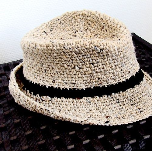 Вязаная шляпа-федОра/fedora. Обсуждение на LiveInternet - Российский Сервис Онлайн-Дневников