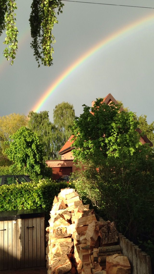 Maj. Regnbue set fra Solvangsalle 7, Horsens.