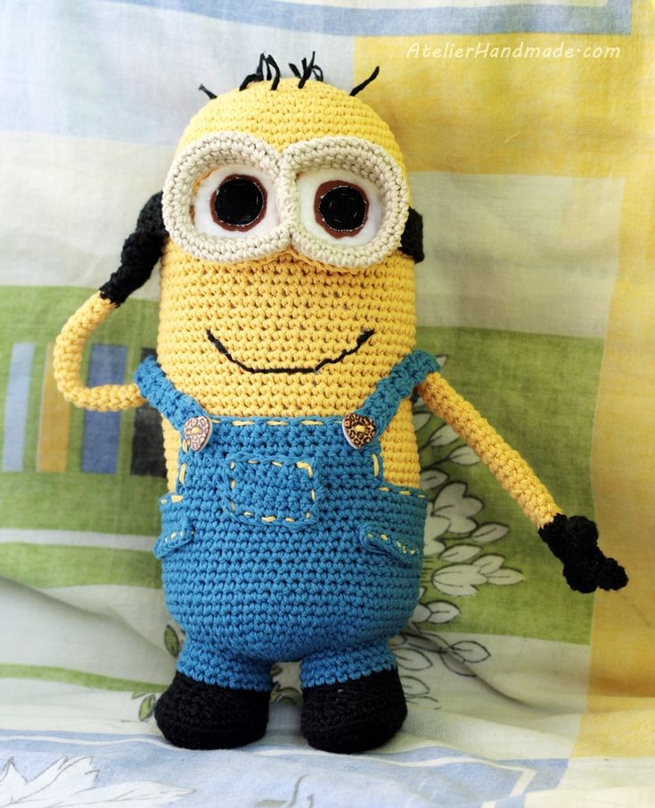 Crochet minion. From a pattern created by All About Ami on tumblr.