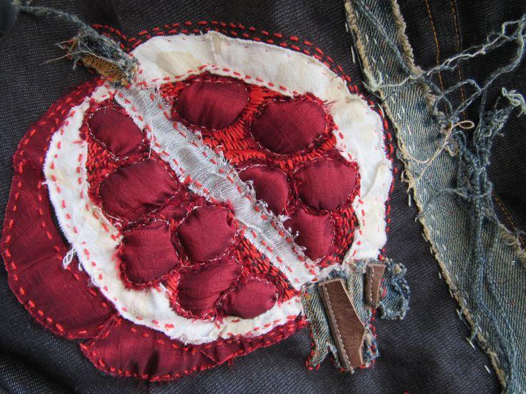 Vilia.  Pomegranate. Textile art.