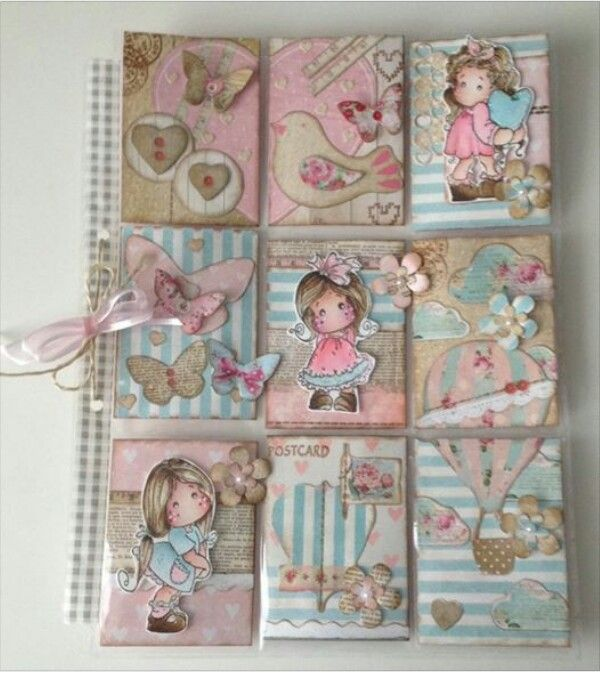 pocket letters shabby colors  magnolia doll