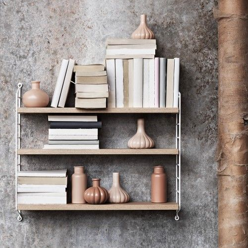 STRING Pocket Shelving - Oak White