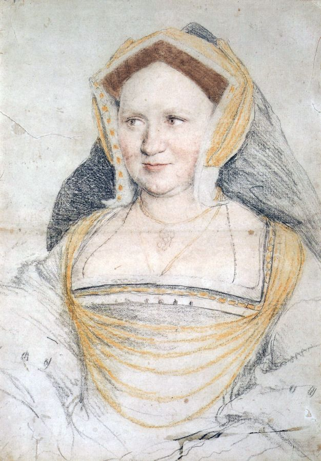 Mary Lady Guildford drawing by Hans Holbein b.1497 - 1543 Governess to the princesses Margaret and Mary Tudor.