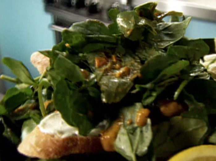 Watercress Salad with Roasted Tomato Dressing from FoodNetwork.com