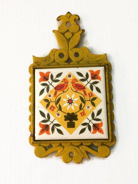 New To Thriftytheresa On Etsy Yellow Ceramic Tile Vintage