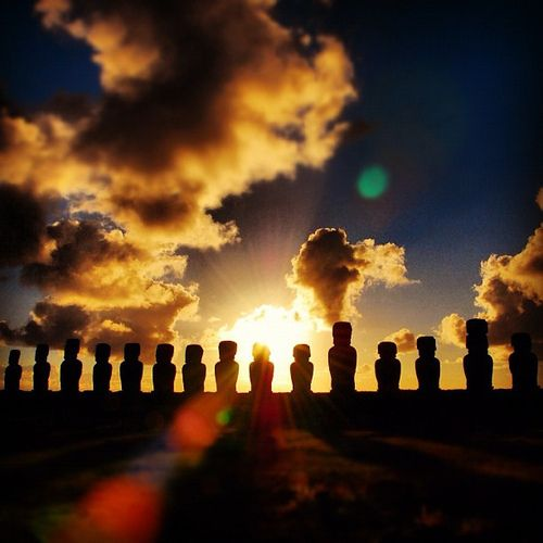 Sunrise in Easter Island ♦ Easter Island, Chile | by Miguel Vasquez
