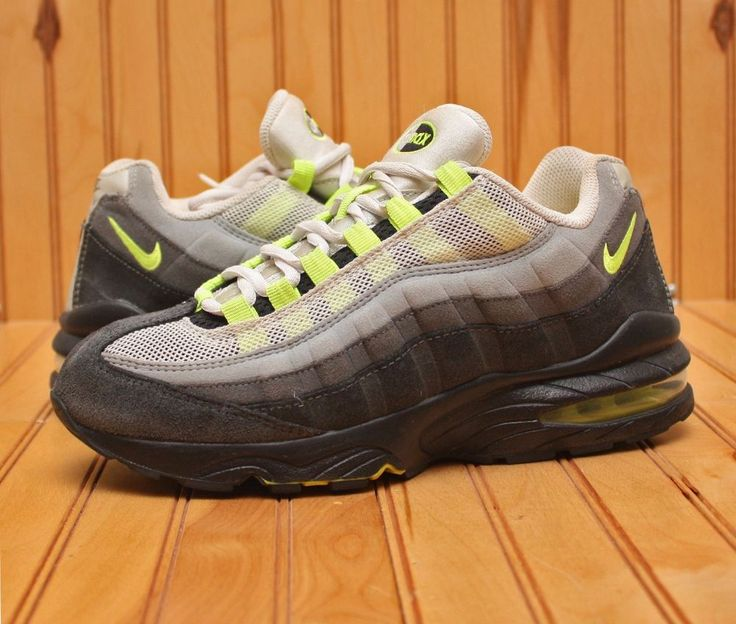 2012 Nike Air Max 95 Size 7Y - White Neon Yellow Black Anthracite - 307565  036