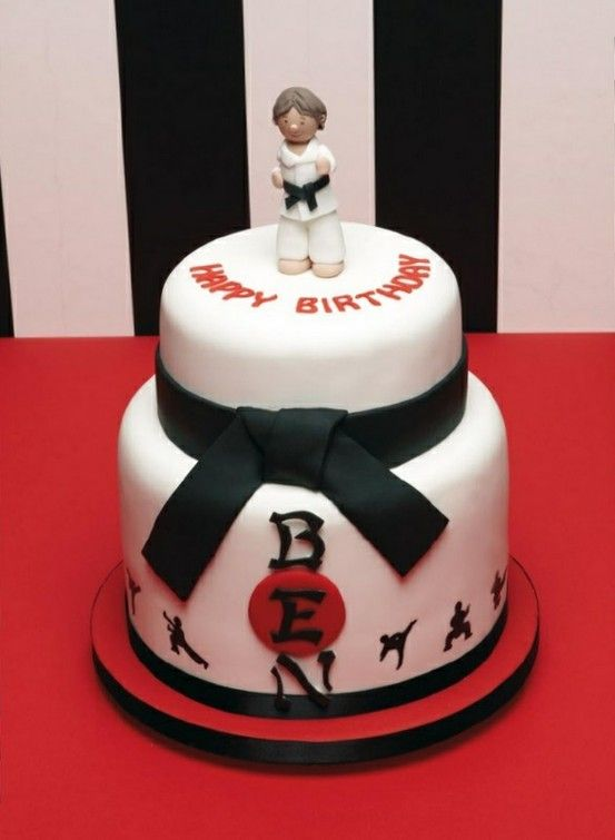 ... Karate Cake on Pinterest  Karate party, Karate birthday and Karate