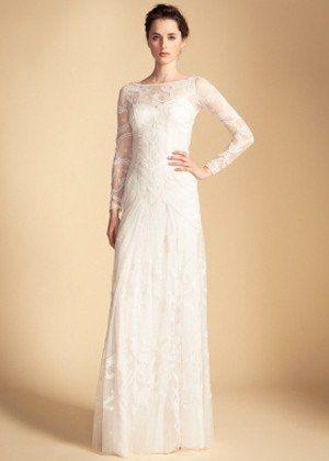 The 13 Best Dressed Celebrity Brides Ever: Long Francine Tattoo Dress, $3,510