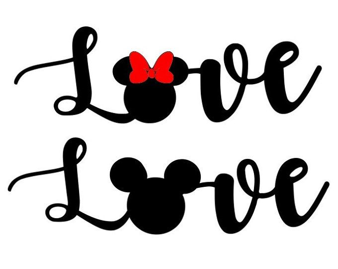 Download Love Mickey Mouse SVG- DXF PNG included - design for ...