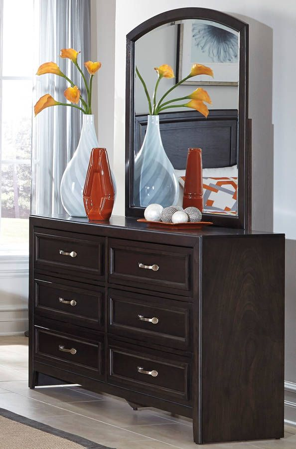 Braymore Contemporary Brown Wood Dresser