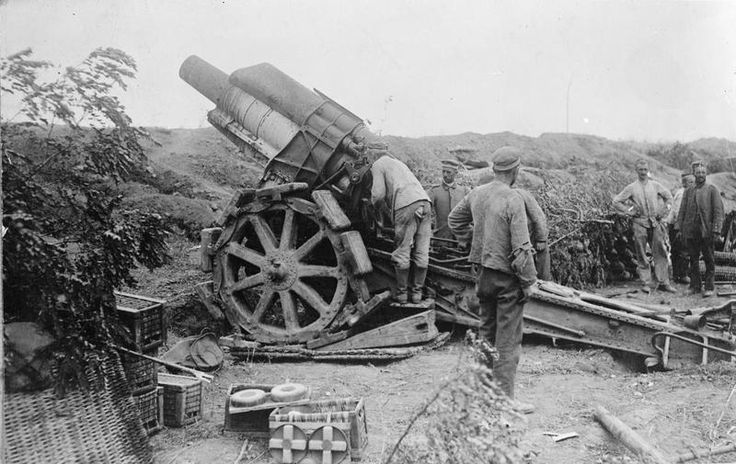 Image result for german 21cm morser 16 heavy howitzer loading shells