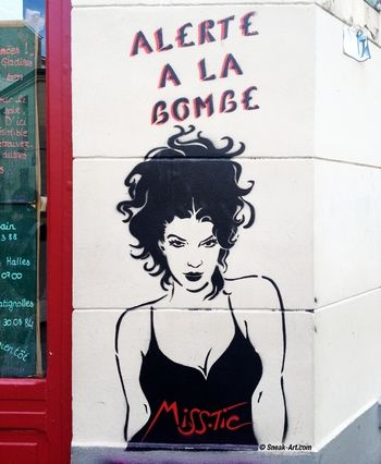 Street Art butte aux cailles Paris - Miss Tic