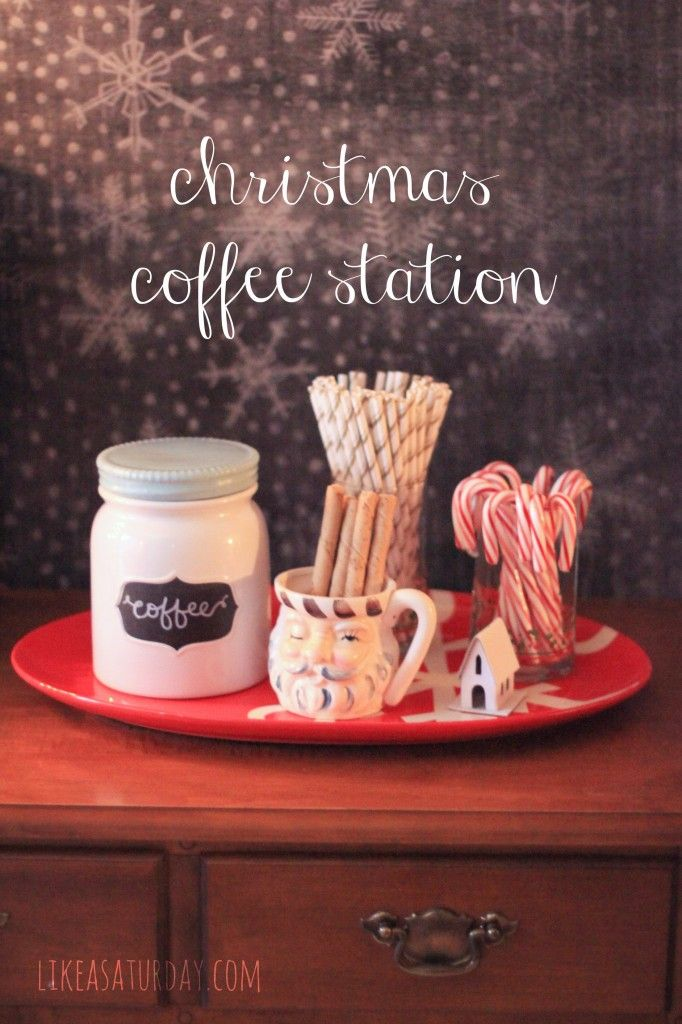 Christmas coffee station